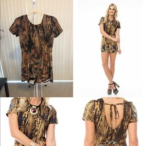 Other - Sara Boo animal-print romper.